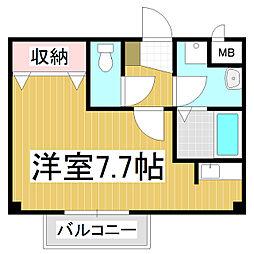 長野県松本市並柳2の賃貸アパートの間取り