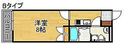 Merry住之江公園 8階1Kの間取り