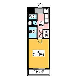 コンフォールドミール[5階]の間取り