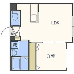 北海道札幌市中央区南十五条西1丁目の賃貸マンションの間取り