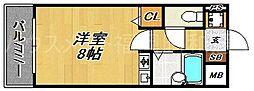 福岡県福岡市中央区白金2の賃貸マンションの間取り