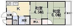 M'プラザ竜田通[3階]の間取り