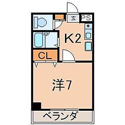 0464アーバンハウス入江[1-A号室]の間取り