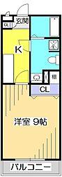 アムールMOTOMACHI[2階]の間取り