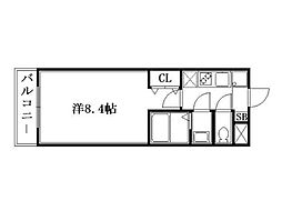 プリモベント円町[2階]の間取り