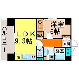 愛知県名古屋市千種区今池2丁目の賃貸マンションの間取り