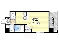 PHOENIX Clove Tomoi 8階ワンルームの間取り