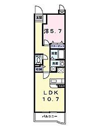プロムナードK[3階]の間取り