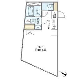 iON下北沢 4階ワンルームの間取り