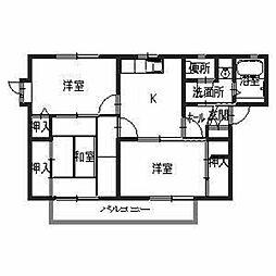 兵庫県姫路市大津区平松の賃貸アパートの間取り