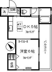 西脇アパート[201号室]の間取り