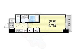 Osaka Metro御堂筋線 淀屋橋駅 徒歩7分の賃貸マンション 11階1Kの間取り