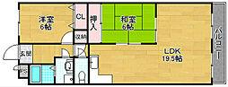 ハイツ昴2番館[4階]の間取り
