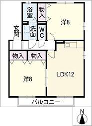 セジュール春木台 A棟[2階]の間取り