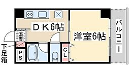 Osaka Metro御堂筋線 新大阪駅 徒歩8分の賃貸マンション 1階1DKの間取り
