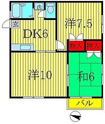 アーバン千代田[2階]の間取り