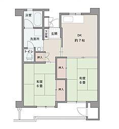 クラブ博多ビル[4階]の間取り