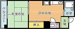 第1サンピア[3階]の間取り