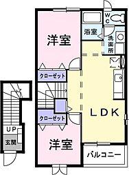 クレストールユキA[2階]の間取り