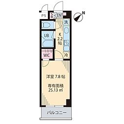 Monte Verde Tokiwadai[203号室]の間取り
