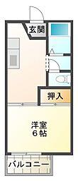 中津ハイツ[2階]の間取り