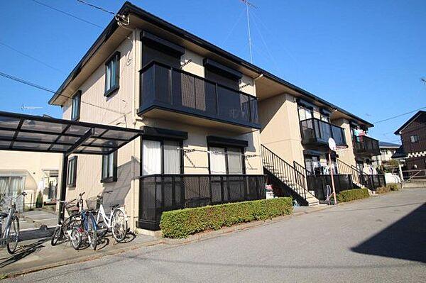 栃木県鹿沼市東町1丁目の賃貸アパートの外観