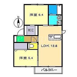 シャーメゾン・ファミーユD棟[2階]の間取り