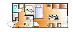 兵庫県三田市西山2の賃貸アパートの間取り