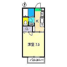 シャーメゾン比島 A棟[1階]の間取り