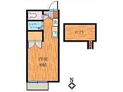 ハイツ玉城[2階]の間取り