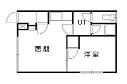 豊岡マンション2号[201号室]の間取り