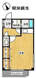 メゾン・ドゥ・エルミタージュ 3階ワンルームの間取り