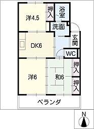 サクセスすずき[3階]の間取り