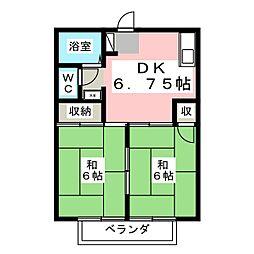 シティハイツ室岡[1階]の間取り