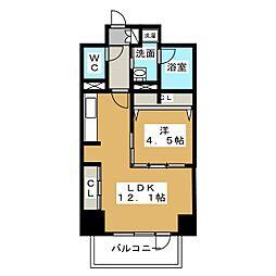 プレミアムコート新栄[1階]の間取り