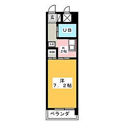 メゾンドゥ六番[1階]の間取り