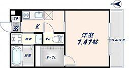 K`sResidence瓢箪山[2階]の間取り