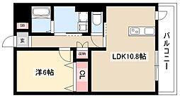 ディアコートK VII 3階1LDKの間取り