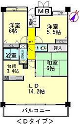 広島県広島市西区庚午北2丁目の賃貸マンションの間取り