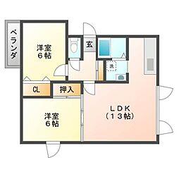 シャトー3428[3階]の間取り
