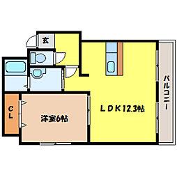 北海道札幌市中央区北十条西19丁目の賃貸マンションの間取り
