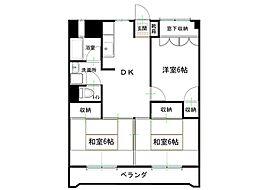 田代マンション[4階]の間取り