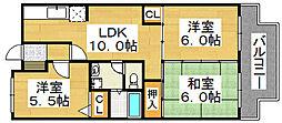 メゾン・M・香ヶ丘[1階]の間取り