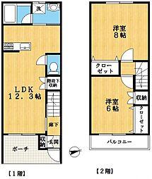 [テラスハウス] 東京都江戸川区松江7丁目 の賃貸【/】の間取り