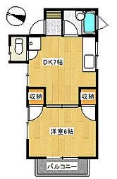 丸山ハイツ[2階]の間取り