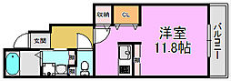 フローラ・8[1階]の間取り