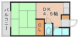 コーポ港[2階]の間取り