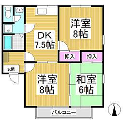 セジュール寺島A棟[1階]の間取り