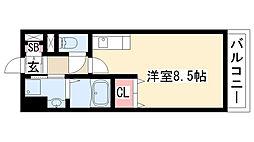 愛知県名古屋市緑区姥子山5丁目の賃貸アパートの間取り