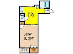コンフォートハイム[1階]の間取り